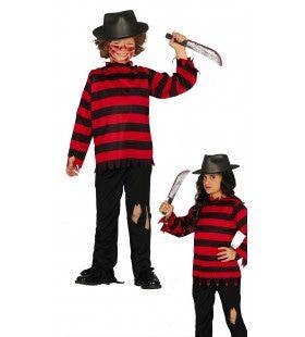 Akelige Halloween Clown Kind Kostuum