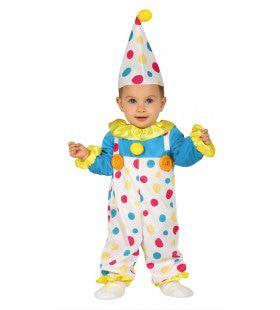 Vrolijke Stippel Clown Kostuum