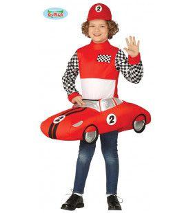 Racen In Een Formule 1 Bolide Jongen Kostuum