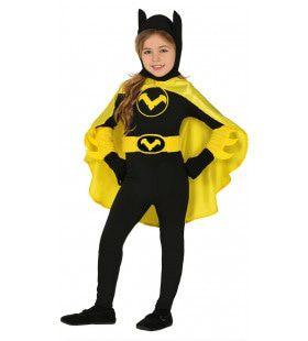 Brute Zwart Gele Batwoman Meisje Kostuum