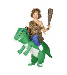 Wie Durft Te Rijden Op Een Opblaasbare Dinosaurus Broek Kostuum