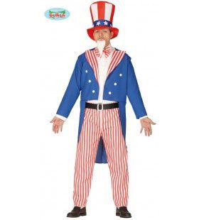 Uncle Sam Trots Op Amerika Man Kostuum