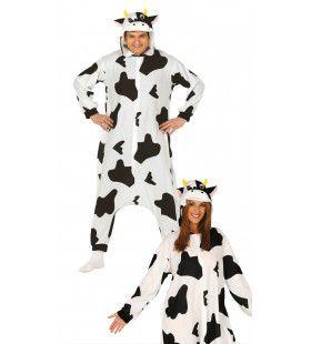 Zwarte Witte Melk Koe Kostuum