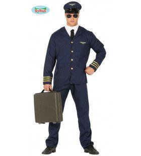 Intercontinentale Vluchten Piloot Man Kostuum