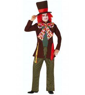 Knettergekke Mad Hatter Wonderland Man Kostuum