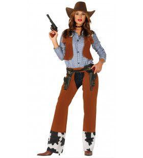 Rodeo Kampioene Cowgirl Vrouw Kostuum