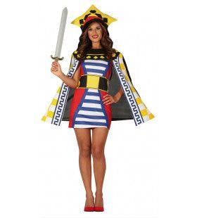 Levende Speelkaart Dame Vrouw Kostuum