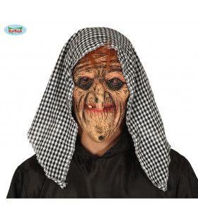 Latex Masker Oerlelijke Heks Met Hoofddoek
