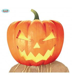 Grote Grijnzende Pompoen Halloween Masker