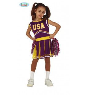 Charlotte College Cheerleader USA Meisje Kostuum