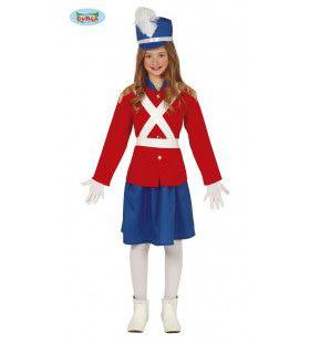 Tinnen Soldaat Paleiswacht Meisje Kostuum