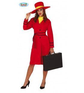 Strenge Inspectrice Politie Detetective Vrouw Kostuum