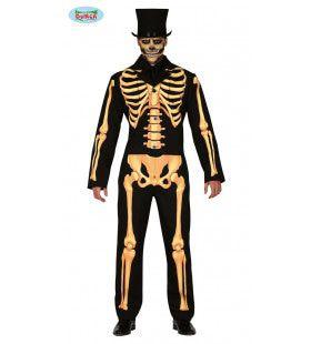 Deftig Skelet Op Stand Horror Man Kostuum