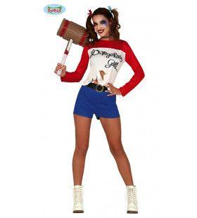 Gevaarlijke Harley Quinn Vriendin Van The Joker Vrouw Kostuum