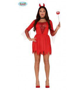 Verleidelijke Hete Hel Duivelin Vrouw Kostuum