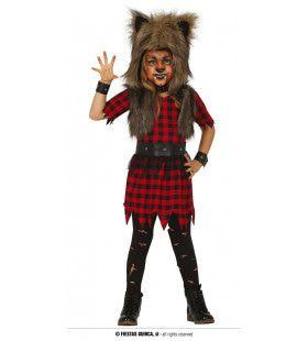 Rebelse Wolf Sharon Meisje Kostuum