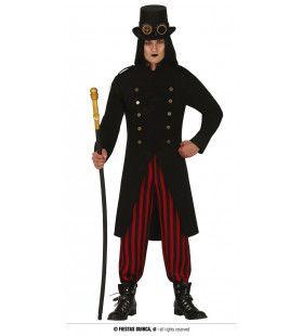 Gothische Steampunk Ringmeester Van Het Horror Circus Man Kostuum