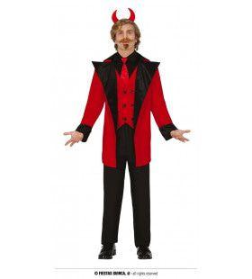 Deftige Meneer Duivel Man Kostuum