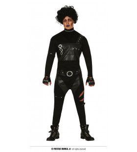 Verstrooide Punkrocker Eddy Man Kostuum