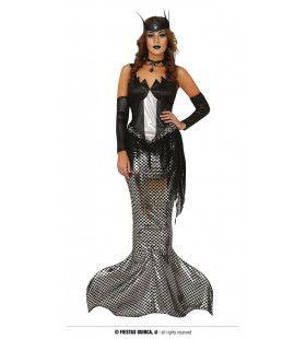 Duistere Zeemeermin Van De Dode Onderwaterwereld Vrouw Kostuum