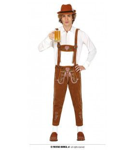 Bruine Lederhosen Drinken In Stijl Man