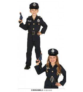 Stop Of Ik Schiet Politie Kind Kostuum