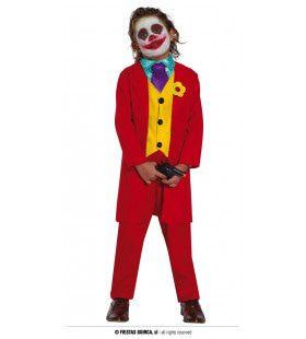 Niet Zo Serieuze Gangster Joker Rood Jongen Kostuum