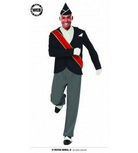 Dansend De Pijp Uit Man Kostuum