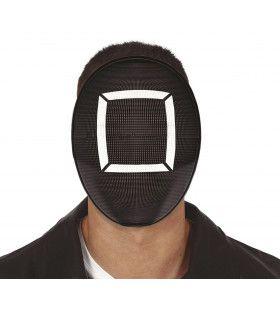 Squid Game Masker Zwart Square Vierkant Manager