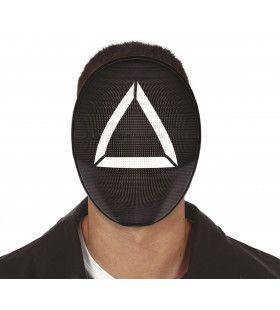Squid Game Masker Zwart Driehoek Triangle Soldaat