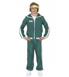 Squid Game Pak Deelnemer Groen Trainingspak Volwassen Man Kostuum
