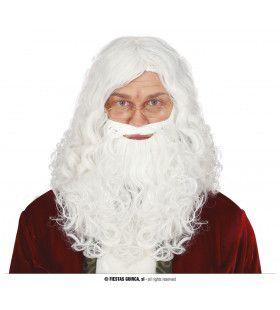 Kerstman Sinterklaas Pruik Met Baard
