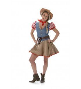 Rodeo Kampioen Stier Rijden Vrouw Kostuum