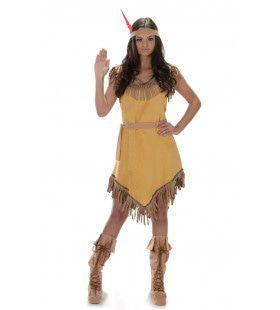 Snuneymuxw Indiaan Wilde Westen Vrouw Kostuum