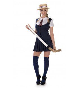 Bijna Keurig Schoolmeisje Engeland Vrouw Kostuum