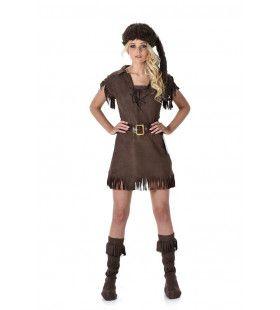 Pelsjager Canadese Wildernis Vrouw Kostuum