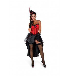 Burleske Cancan Dame Parijs Vrouw Kostuum