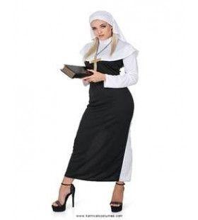 Altijd Biddende Non Klooster Vrouw Kostuum