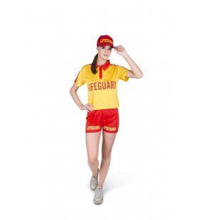 Lifeguard Strandwacht Noordzee Strand Vrouw Kostuum
