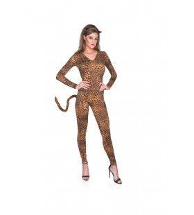 Katachtig Bewegend Luipaard Vrouw Kostuum