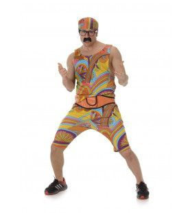 Hippie Sporter Flower Power Man Kostuum