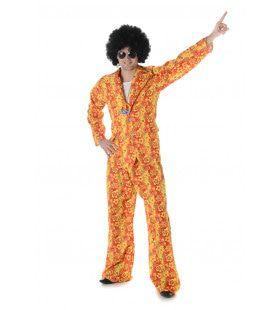 Fleurig Bloemenpak Hippie Man Kostuum