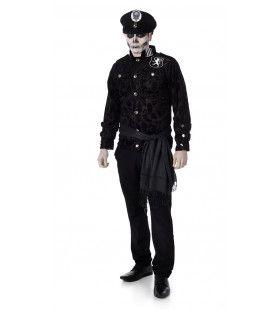 Foute Zwarte Brigade Zombie Man Kostuum