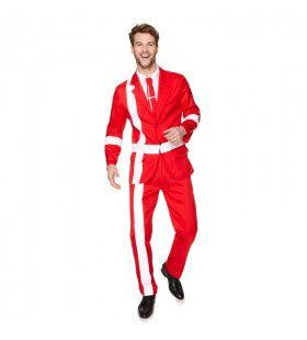 Grappig Grote Deense Vlag Man Kostuum