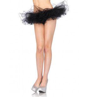 Mini Tutu Met Golvende Randen Zwart