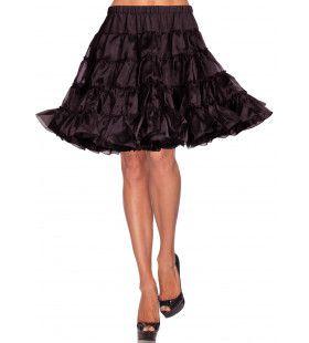 Luxe Petticoat Knielengte Zwart
