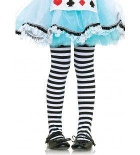 Gestreepte Meisjespanty Zwart-Wit