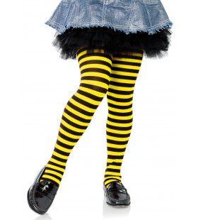 Gestreepte Meisjespanty Zwart-Geel