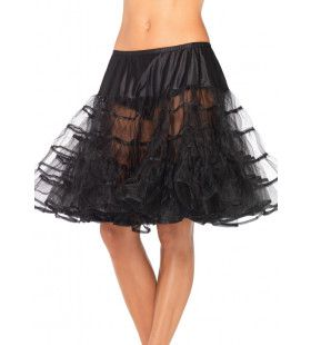 Medium Lange Petticoat Zwart