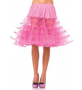 Medium Lange Petticoat Roze